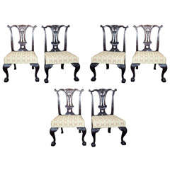 Set of Six Mahogany Side Chairs