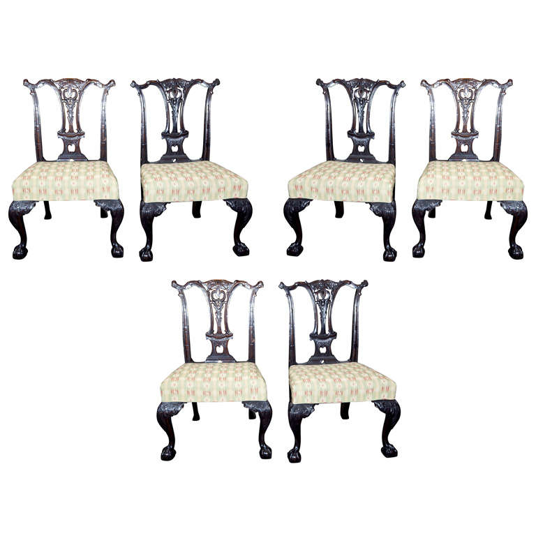 Set of Six Mahogany Side Chairs For Sale