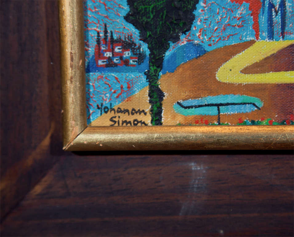 Mid-20th Century Painting by Yohanan Simon For Sale