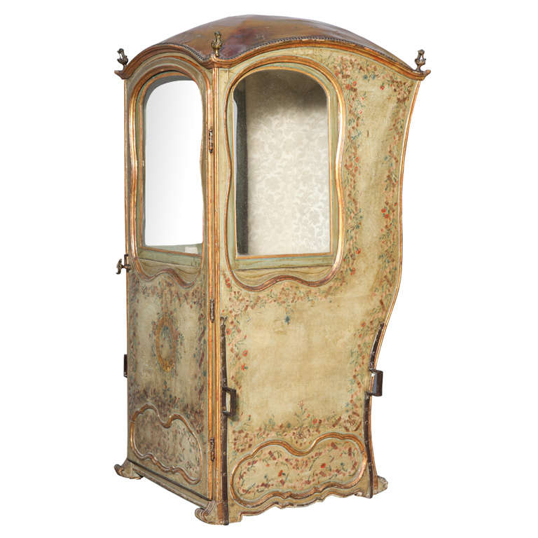 18th C. Venetian Sedan Chair from the Estate of Tiziani
