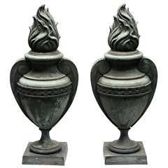 Pair Of French Bronze Urns
