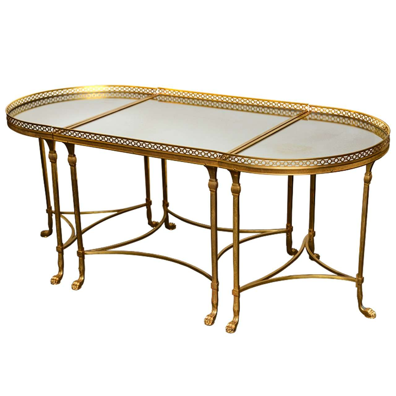 Neoclassical french dore bronze coffee table at 1stdibs Bronze coffee tables