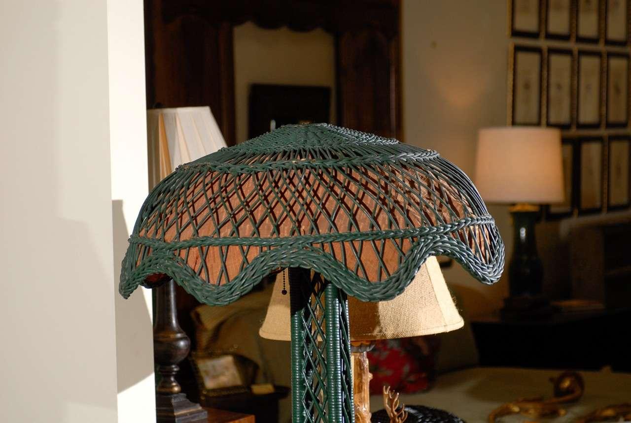 C 1920s American Wicker Floor Lamp At 1stdibs