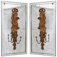 Pair of Carved Sconces