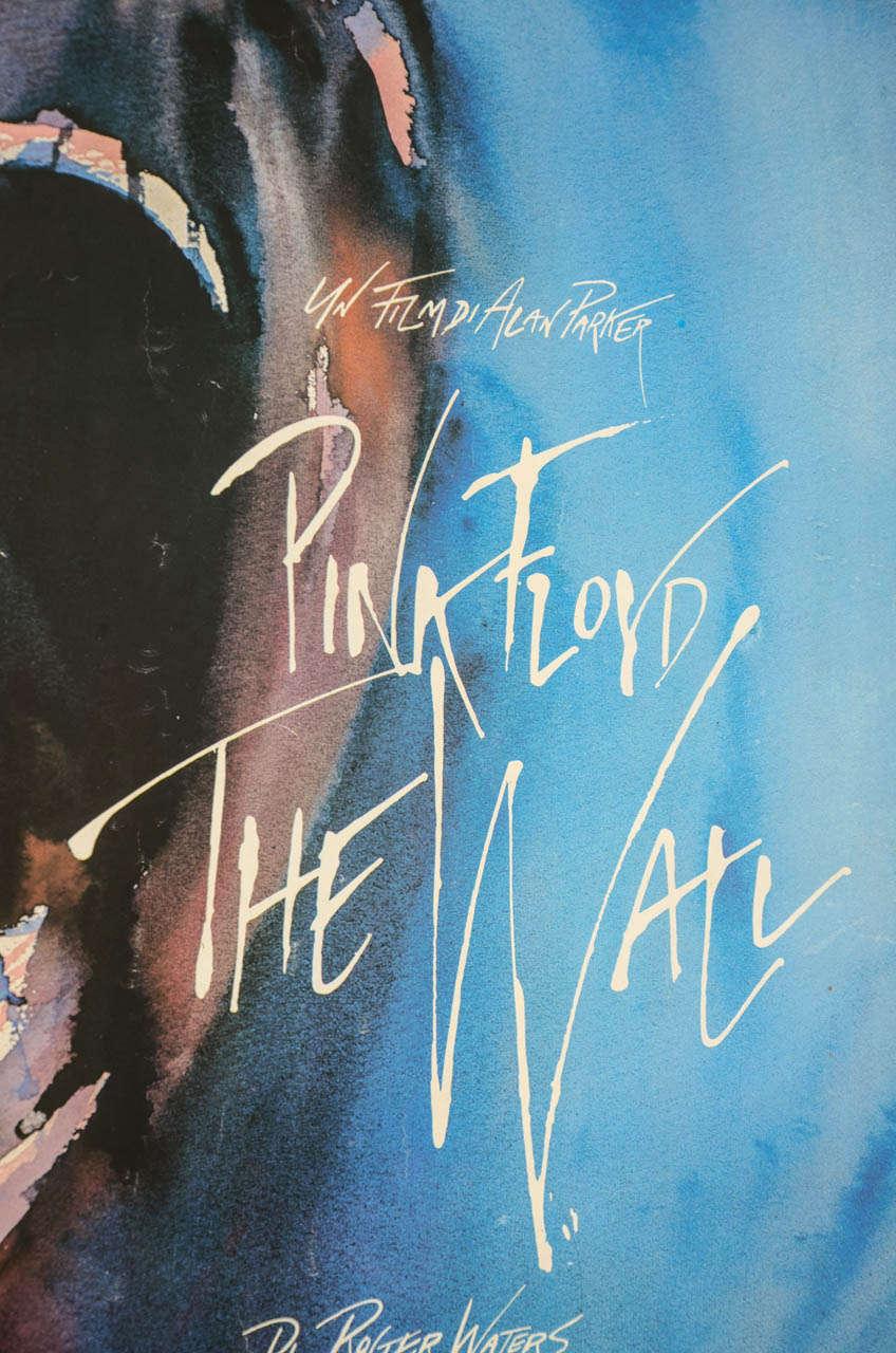 original film poster for pink floyd the wall at 1stdibs. Black Bedroom Furniture Sets. Home Design Ideas