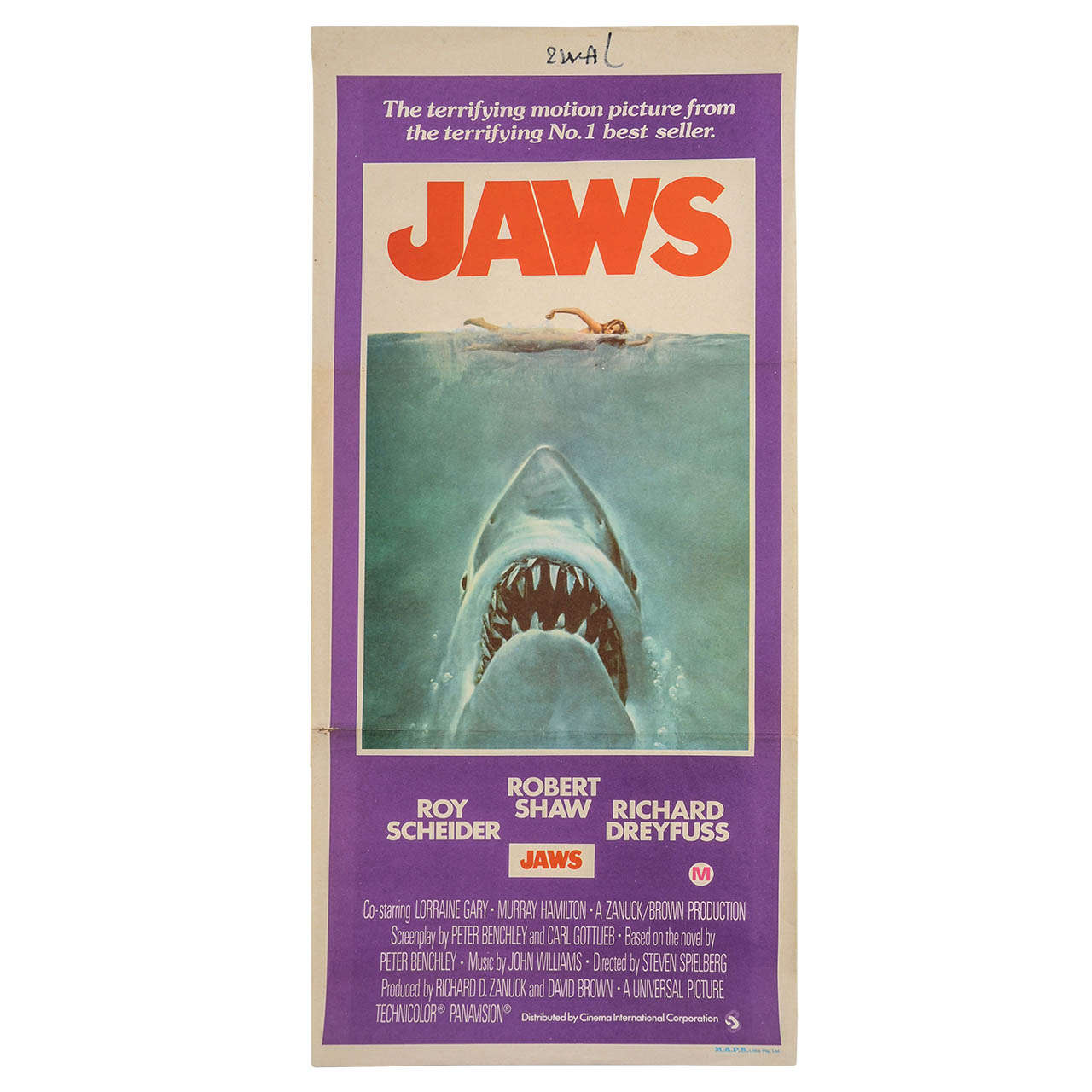 Original Film Poster 'jaws' (australian) at 1stdibs