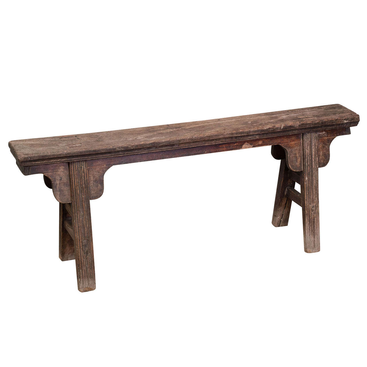 Chinese Rustic Narrow Bench At 1stdibs