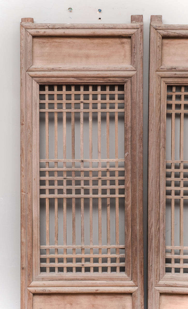 Set Of Four Chinese Door Panels At 1stdibs
