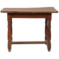 Walnut Table with Stretcher