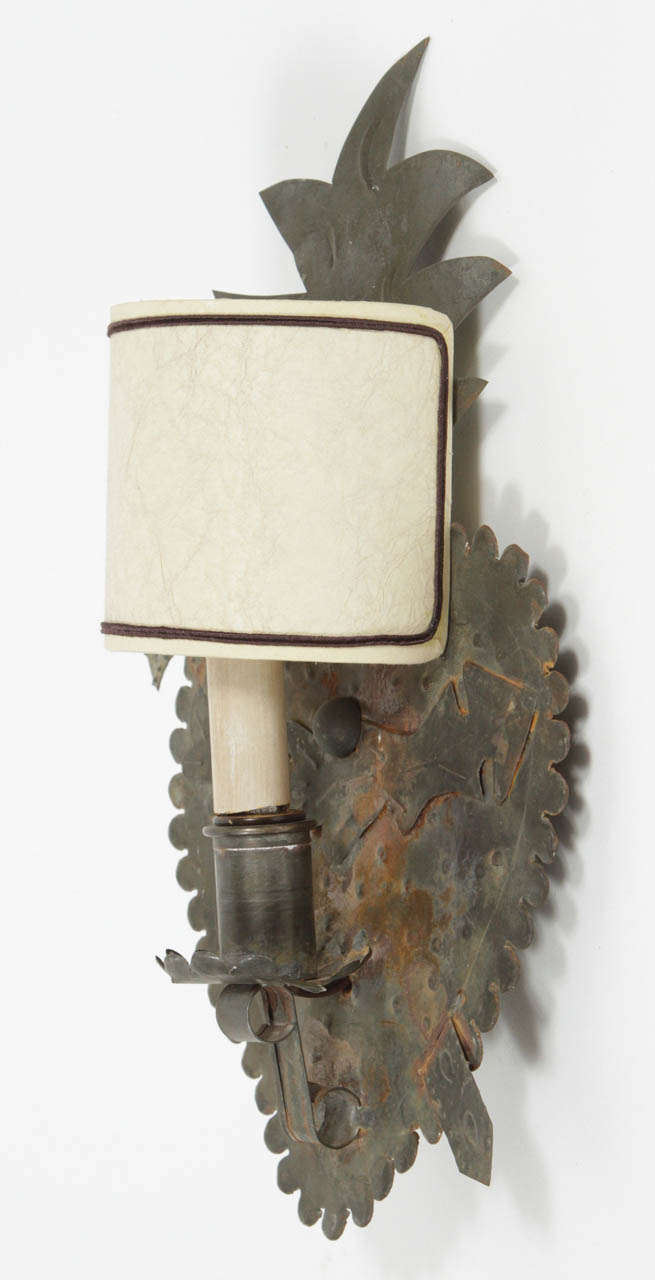 Wall Sconces Mexican : Pair of Antique Mexican Heart Sconces at 1stdibs