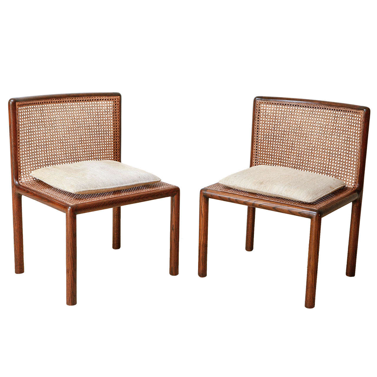 Caned Chairs Designed By Noted Architect Phillip Enfield At 1stdibs