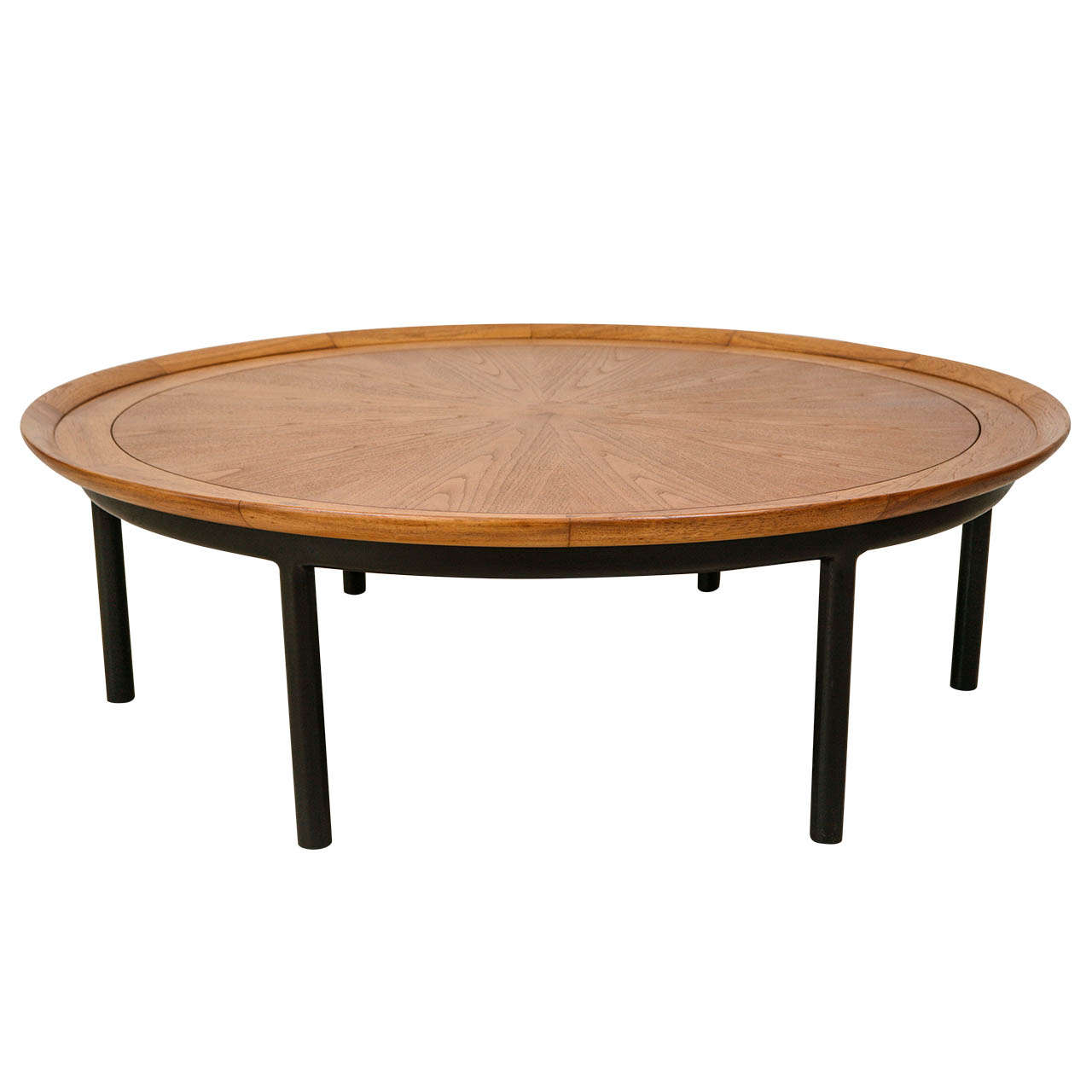 Large walnut coffee table from sophisticates by tomlinson at 1stdibs Wide coffee table
