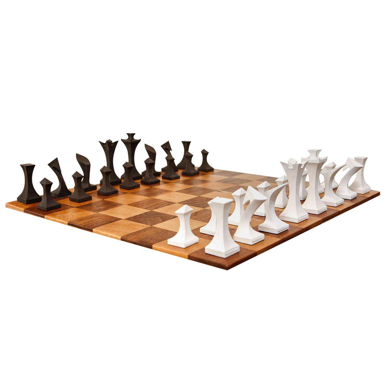 Modern Chess Set By Robert Lander At 1stdibs