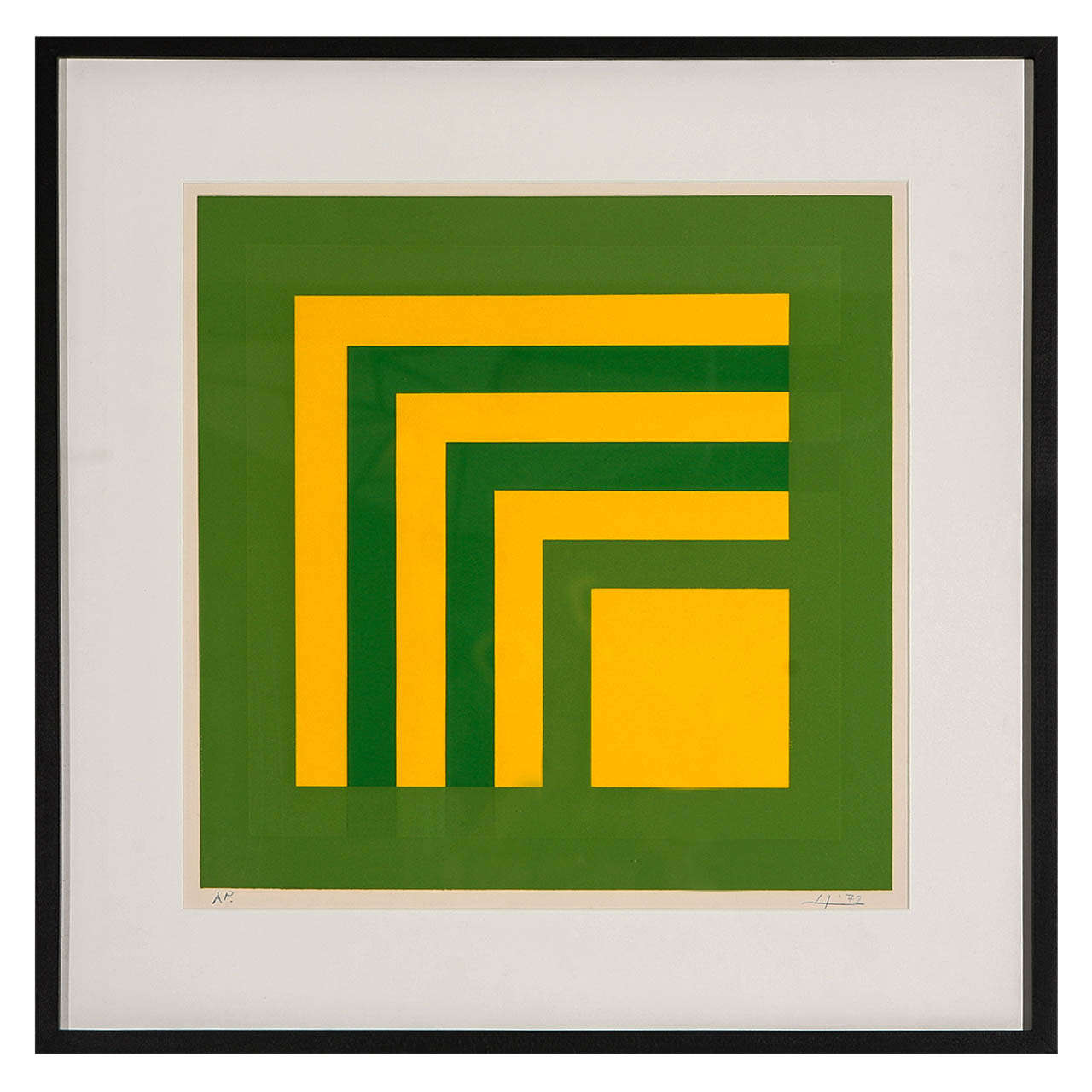 Josef Albers Silk Screen Artist S Proof At 1stdibs