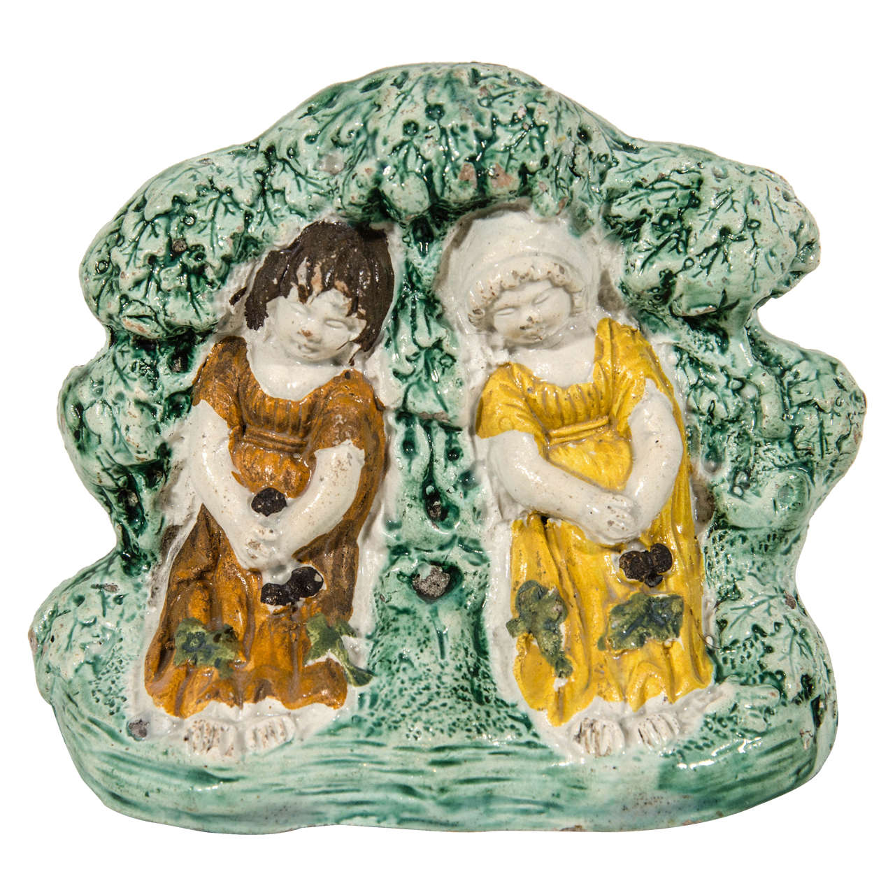Antique Staffordshire Figure Group 'Babes in the Wood' For Sale
