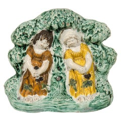Antique Staffordshire Figure Group 'Babes in the Wood' Made circa 1790