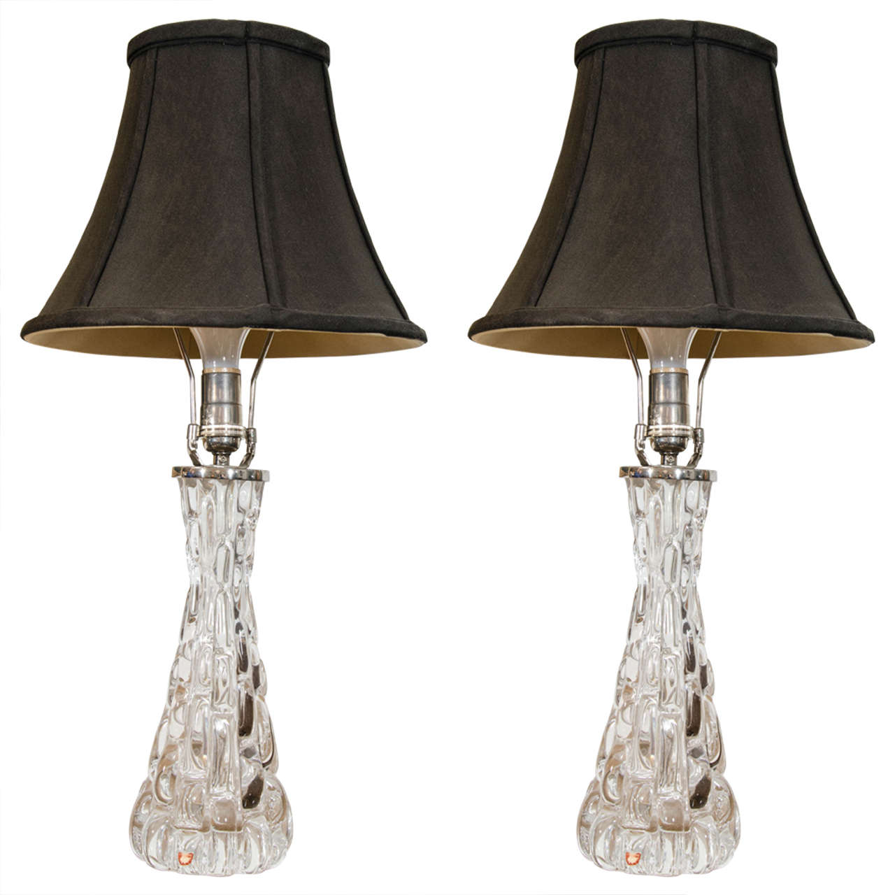 Pair of Orrefors Table Lamps