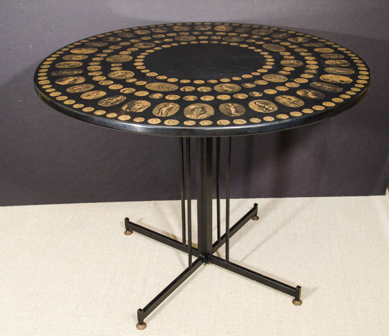 Fornasetti Table With Roman Emperor Medallion Heads, 1950s Italy 2
