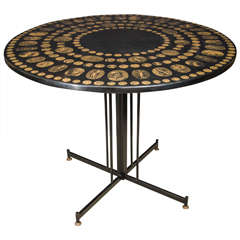 Fornasetti Table with Roman Emperor Medallion Heads, 1950s Italy
