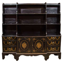 Regency Breakfront Waterfall Bookcase