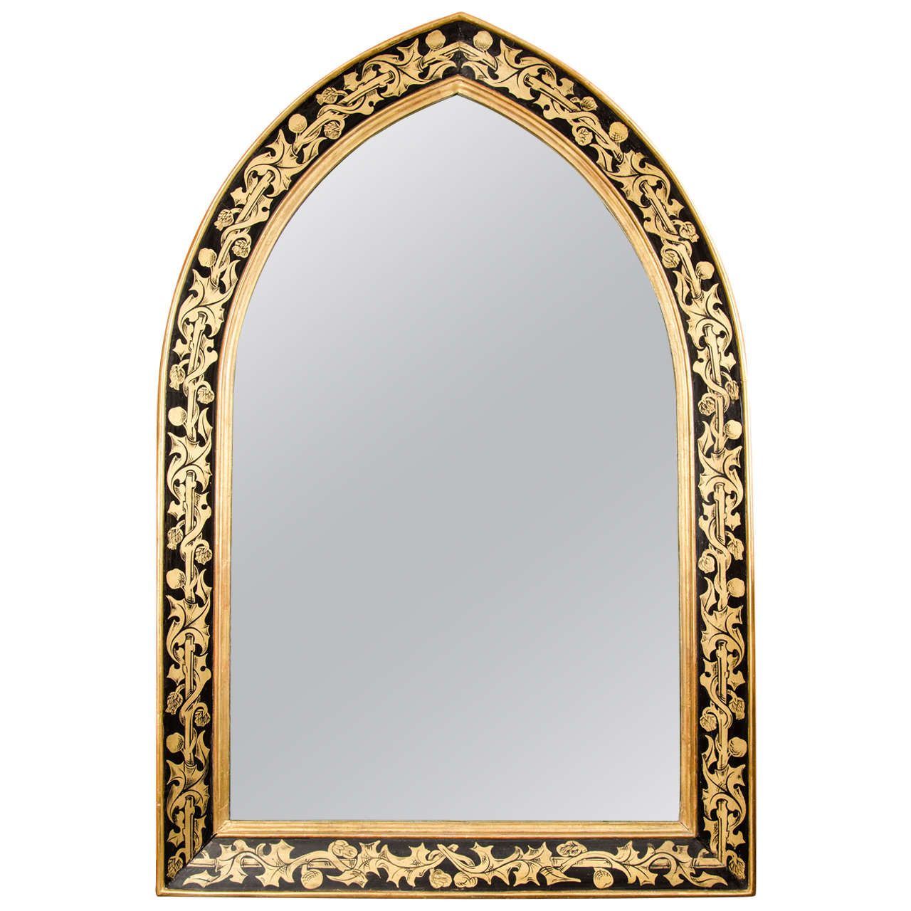 pair of william morris style arched mirrors 1