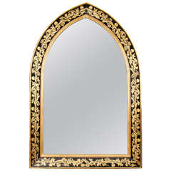 Pair of William Morris Style Arched Mirrors
