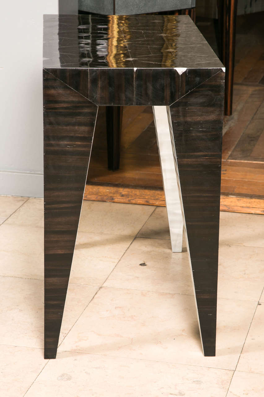 Ebony pair of bedside tables at cost price For Sale