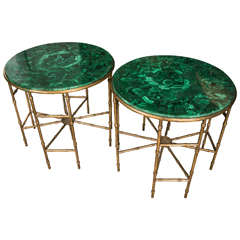 Stunning Pair of Malachite Pedestals