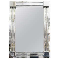 Custom Glass and Rod Polished Nickel Tubular Mirror
