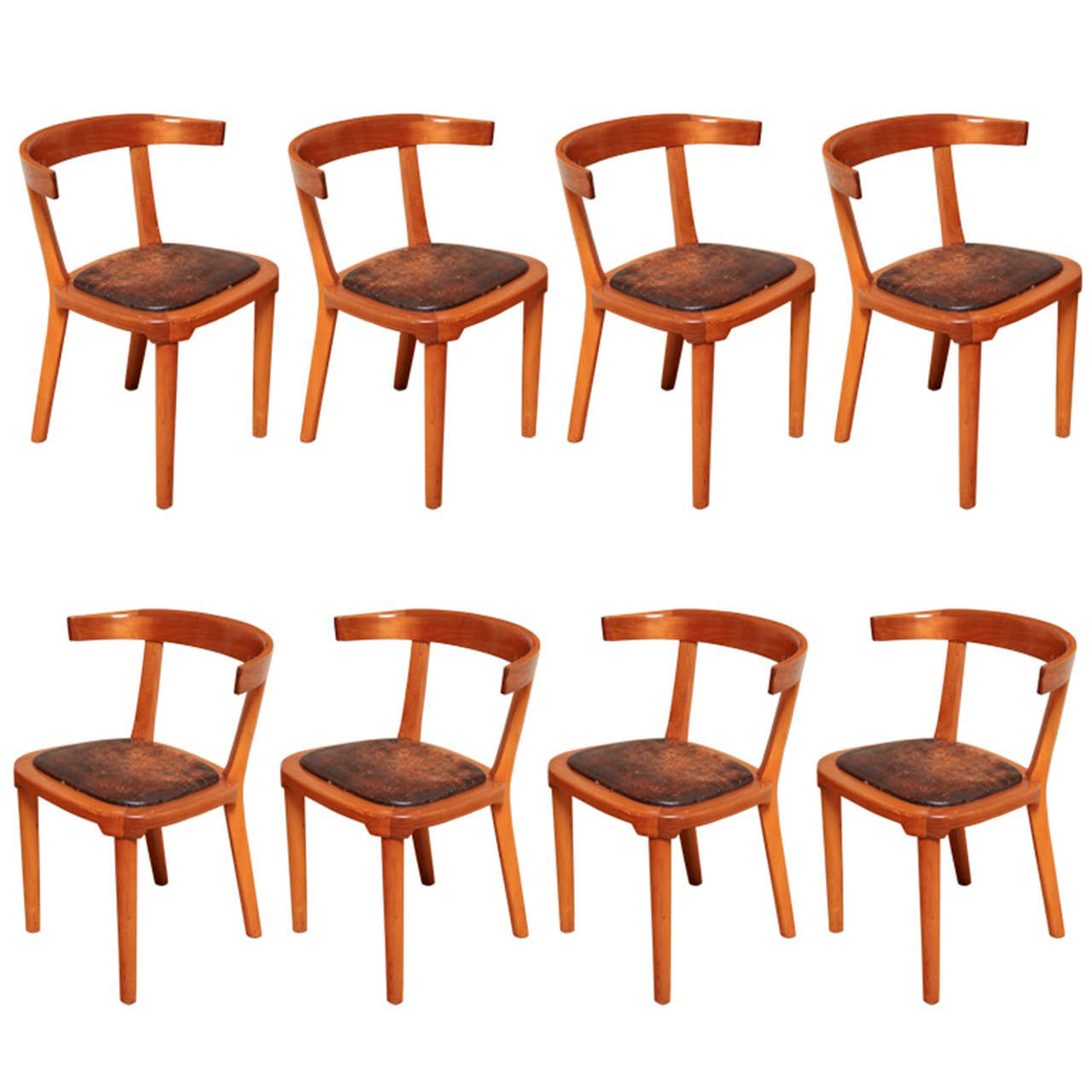 Unique Set Of 8 Dining Chairs Designed By Gunnar Asplund