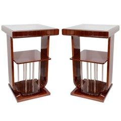 Single Art Deco Square Lamp Table