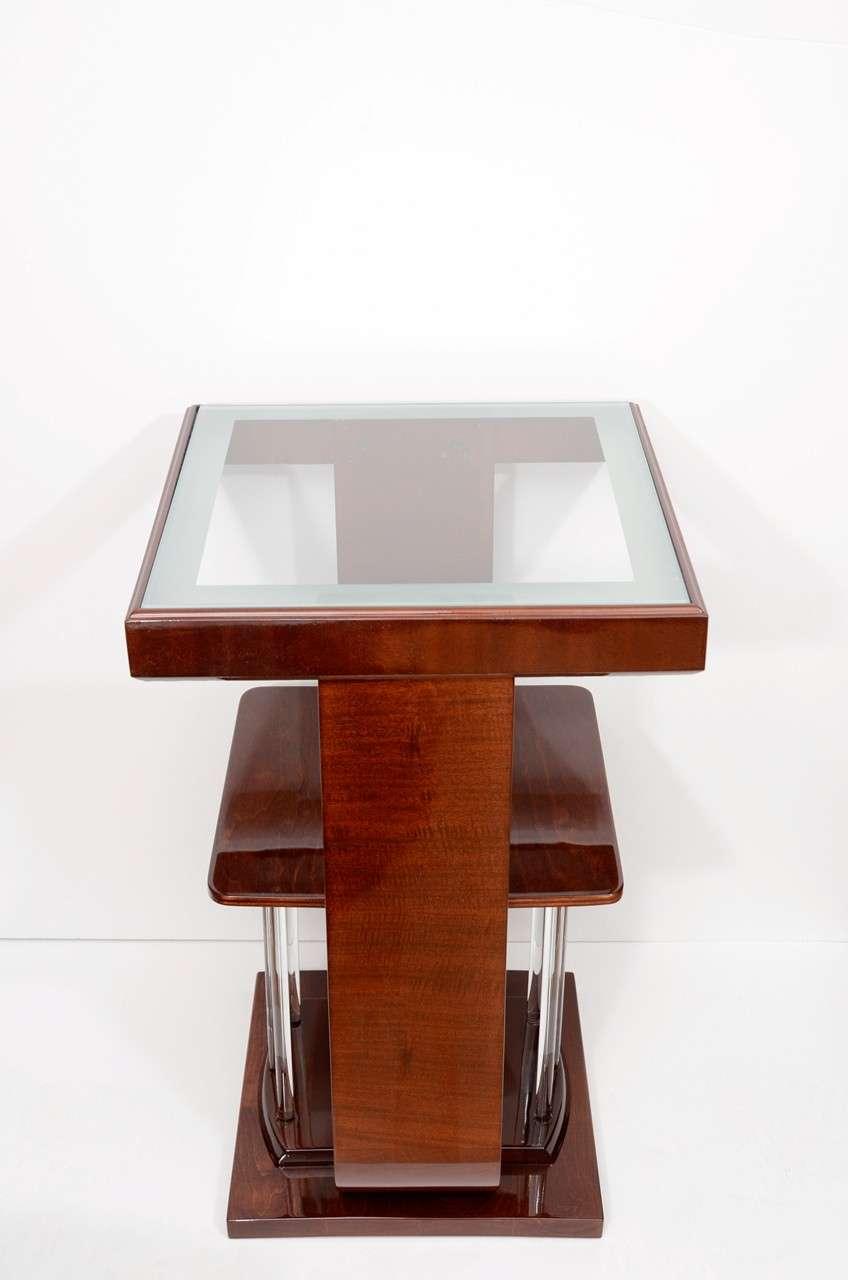 art deco square lamp tables for sale at 1stdibs. Black Bedroom Furniture Sets. Home Design Ideas