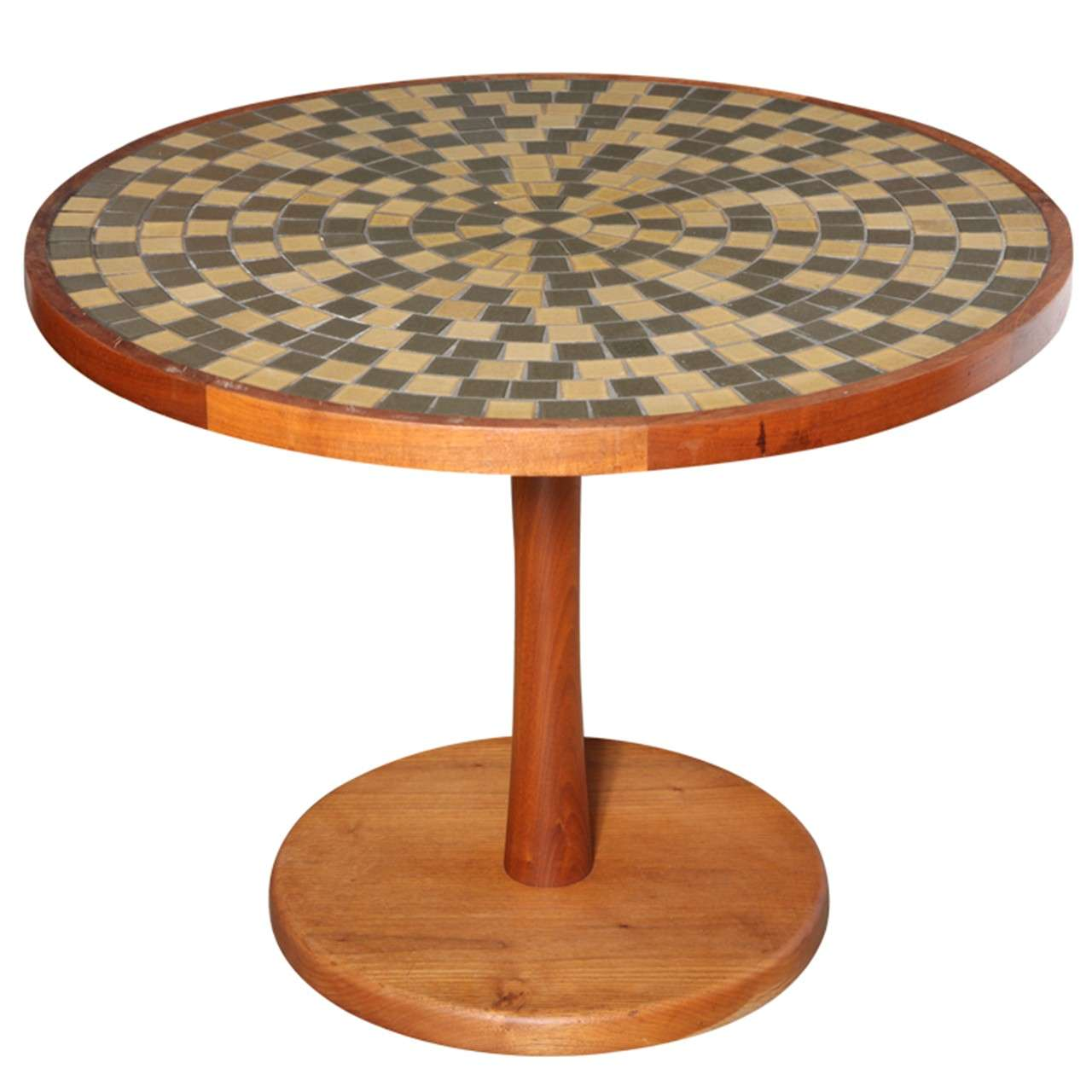 Jane And Gordon Martz Earthen Ceramic Tile Top Table, Circa 1960 1