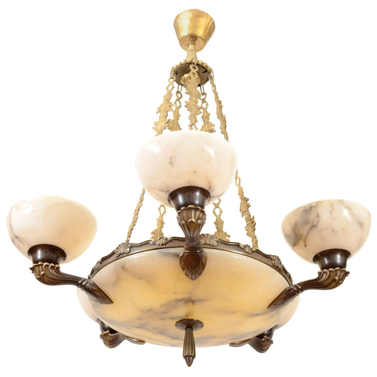 Alabaster chandelier lighting chandelier designs an alabaster chandelier at 1stdibs aloadofball Image collections