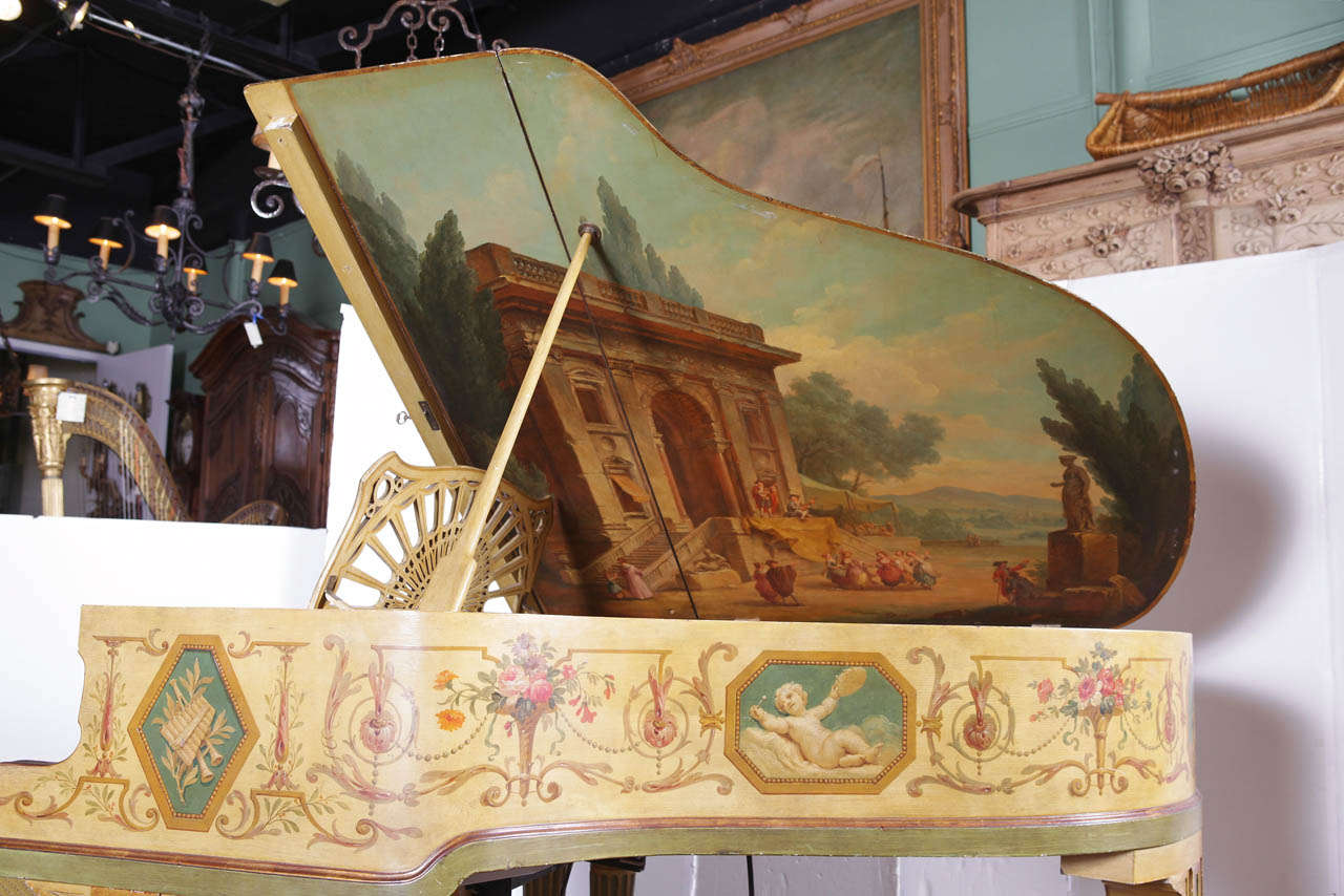 """Painted Baby Grand """"Gaveau"""" Piano  with Player (1911-1912) 3"""