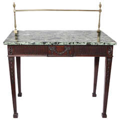 19th Century English Marble-Top Sideboard