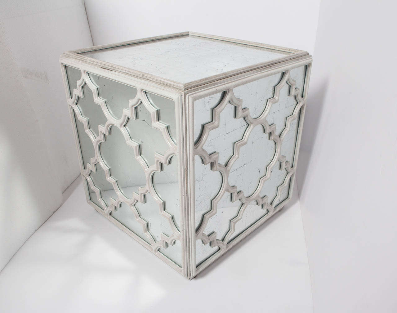 Mirrored Cube Coffee Or End Table For Sale At 1stdibs