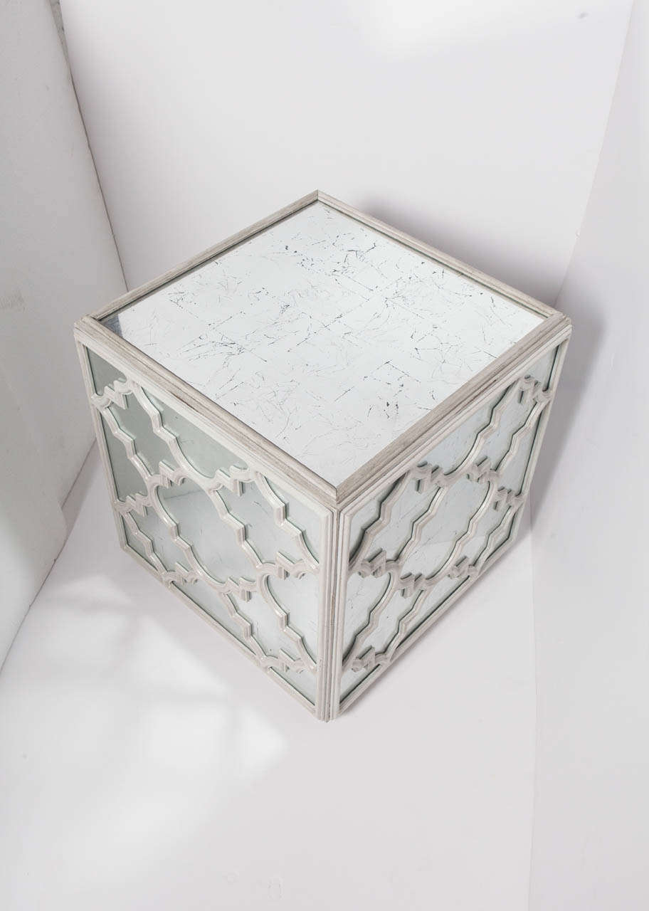 Mirrored Cube Coffee Or End Table At 1stdibs