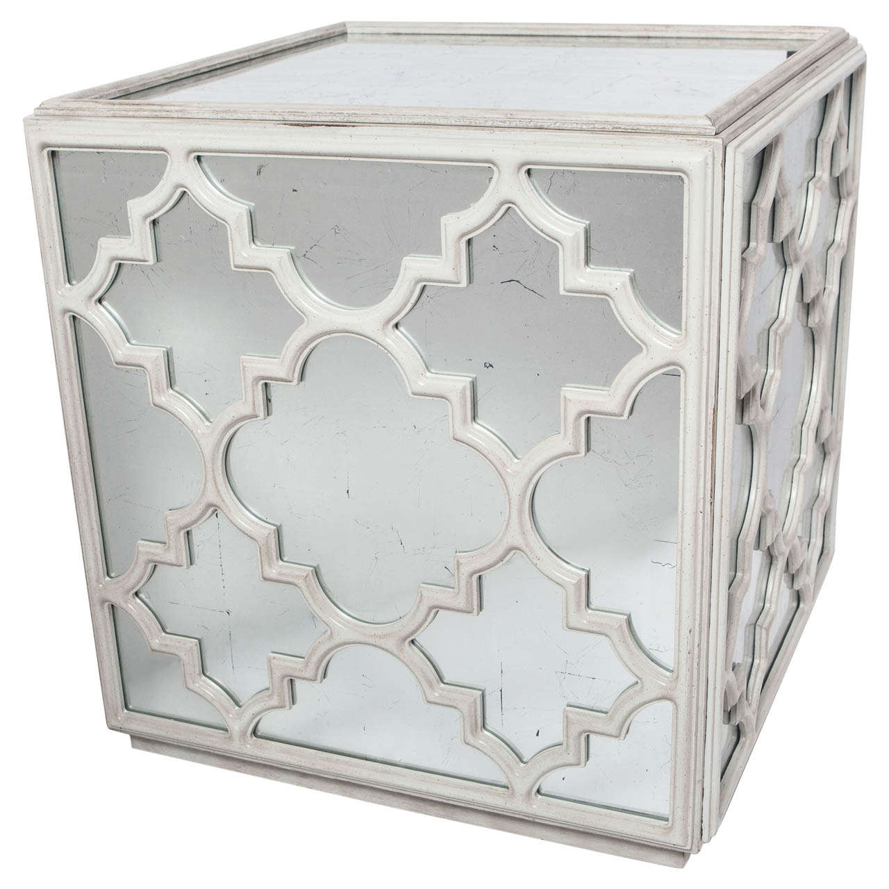 Mirrored Cube Coffee Or End Table At Stdibs - Mirrored cube end table