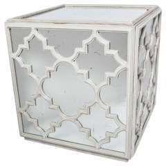 Mirrored Cube, Coffee or End Table