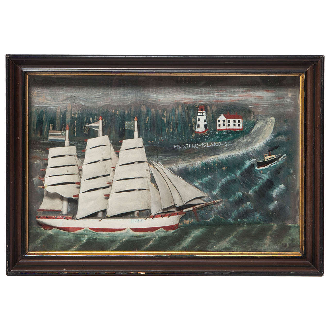 Sailboat Diorama For Sale