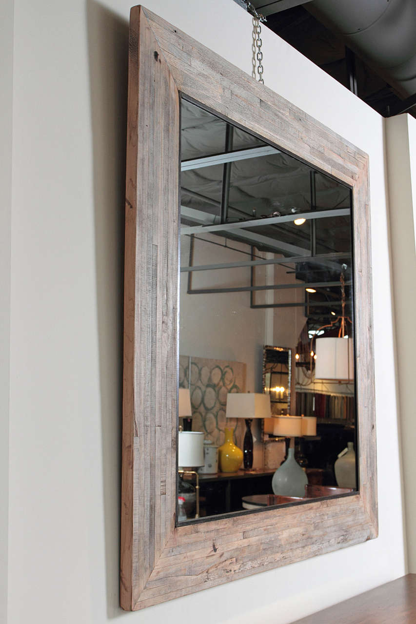 wood mirror frame. Transitional Style Large Maple Wood Mirror Frame Crafted From Reclaimed Vintage Elements. Textures Of