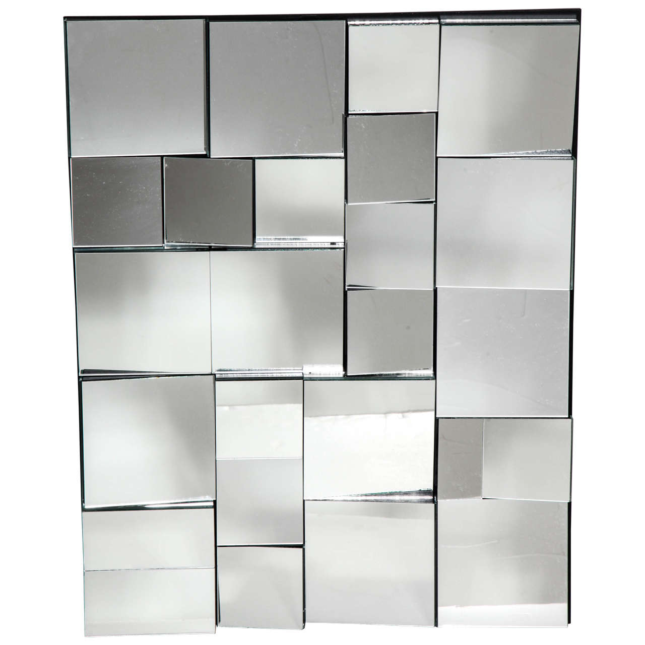 """Neal Small Limited Edition Smaller Faceted """"Slopes"""" Mirror, circa 2000"""