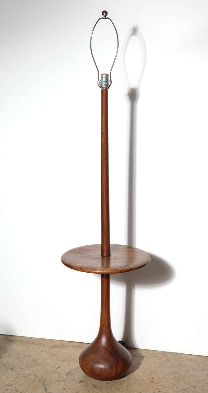danish modern teak reading lamp and side table combination at 1stdibs. Black Bedroom Furniture Sets. Home Design Ideas