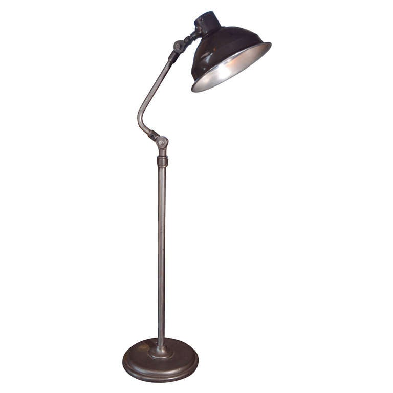 flex arm floor lamp at 1stdibs. Black Bedroom Furniture Sets. Home Design Ideas
