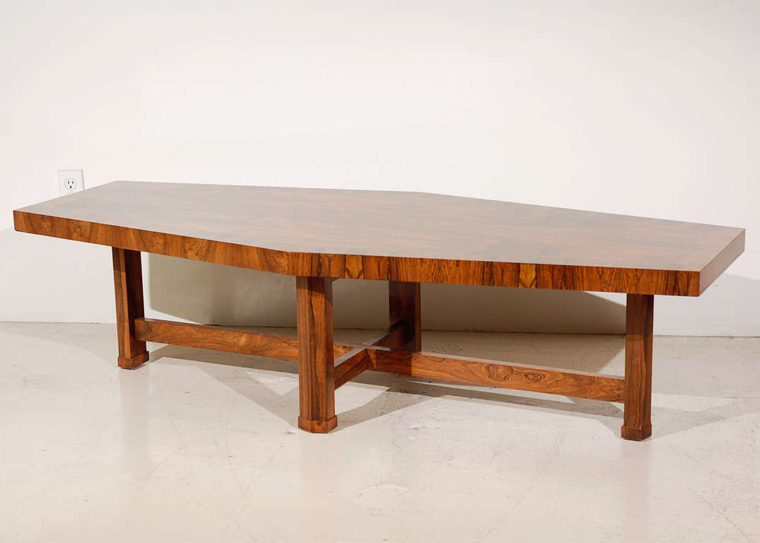 Rosewood custom coffee table by baker at 1stdibs Baker coffee table
