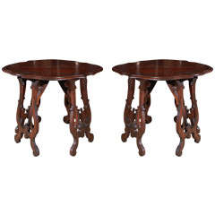 Pair of Small, Florentine Scroll-Form Console Tables
