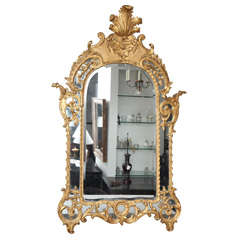 Late 18th C. Giltwood Regence Mirror