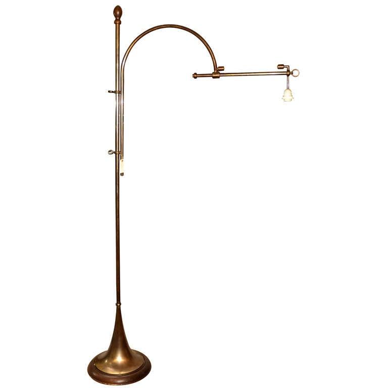 unusual bronze floor lamp at 1stdibs
