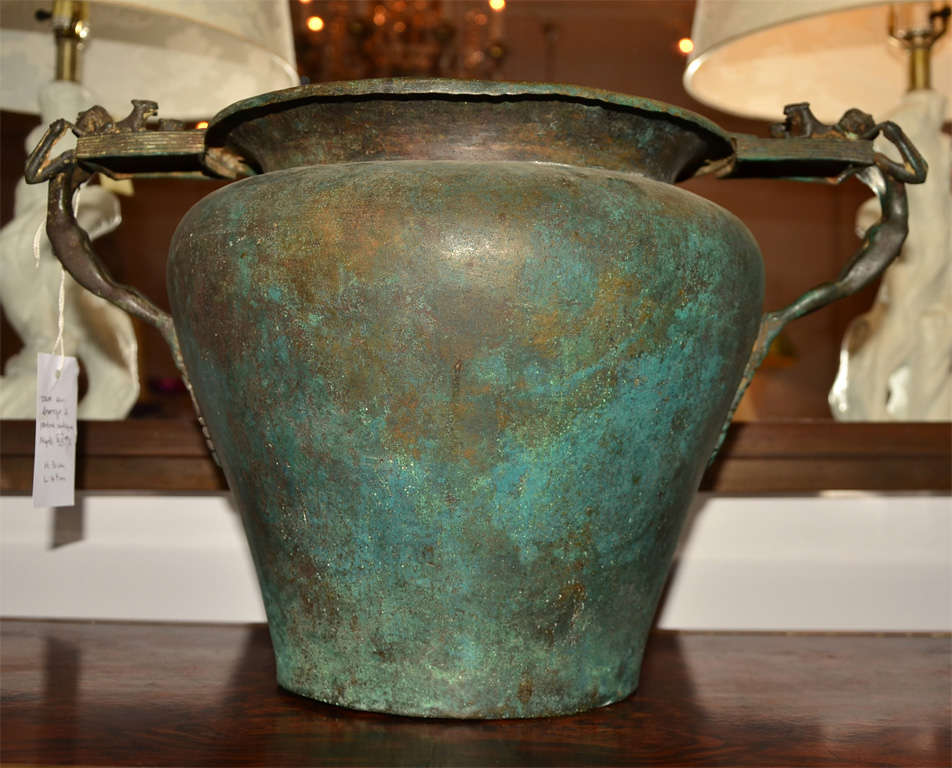 Bronze Vase In The Antique Taste With Great Patina For Sale At 1stdibs